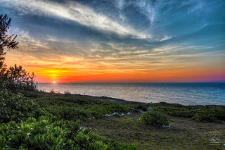 Sunset in the Cayman Islands