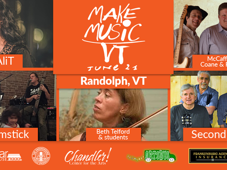 Make Music Day '21 - Randolph, VT - In person and online!