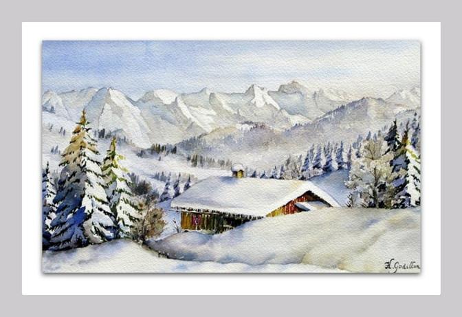 Chalet d'alpage en hiver