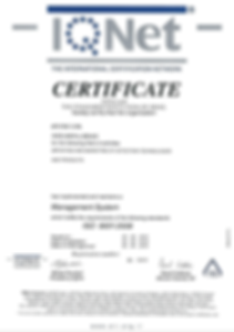 ISO 9001: 2008 IQNET for RTUTec Ltd.
