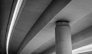 Concrete roads and bridges