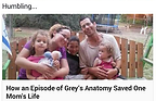Grey's anatomy saved my life post on Facebook