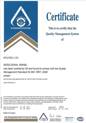 ISO 9001:2008 for RTUTec Ltd.