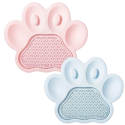PAW 2-in-1 Slow Feeder & Anti-Anxiety Food Pet Lick Pad & Bowl Combo