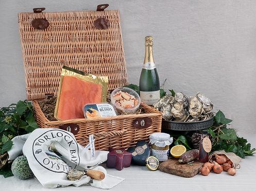 Luxury Christmas Hamper by Porlock Bay Oysters