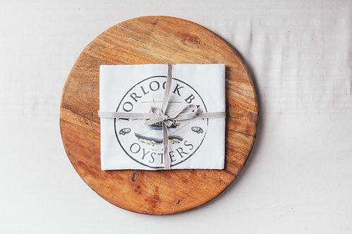 Porlock Bay Oyster Tea Towel