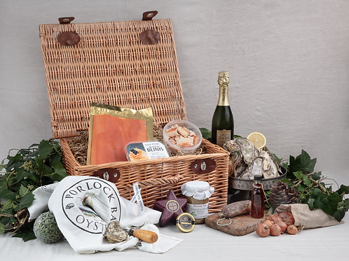 Exmoor Christmas Hamper (perfect for two people) by Porlock Bay Oysters