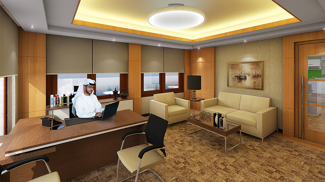 Dubai office interior design styles for Office design styles