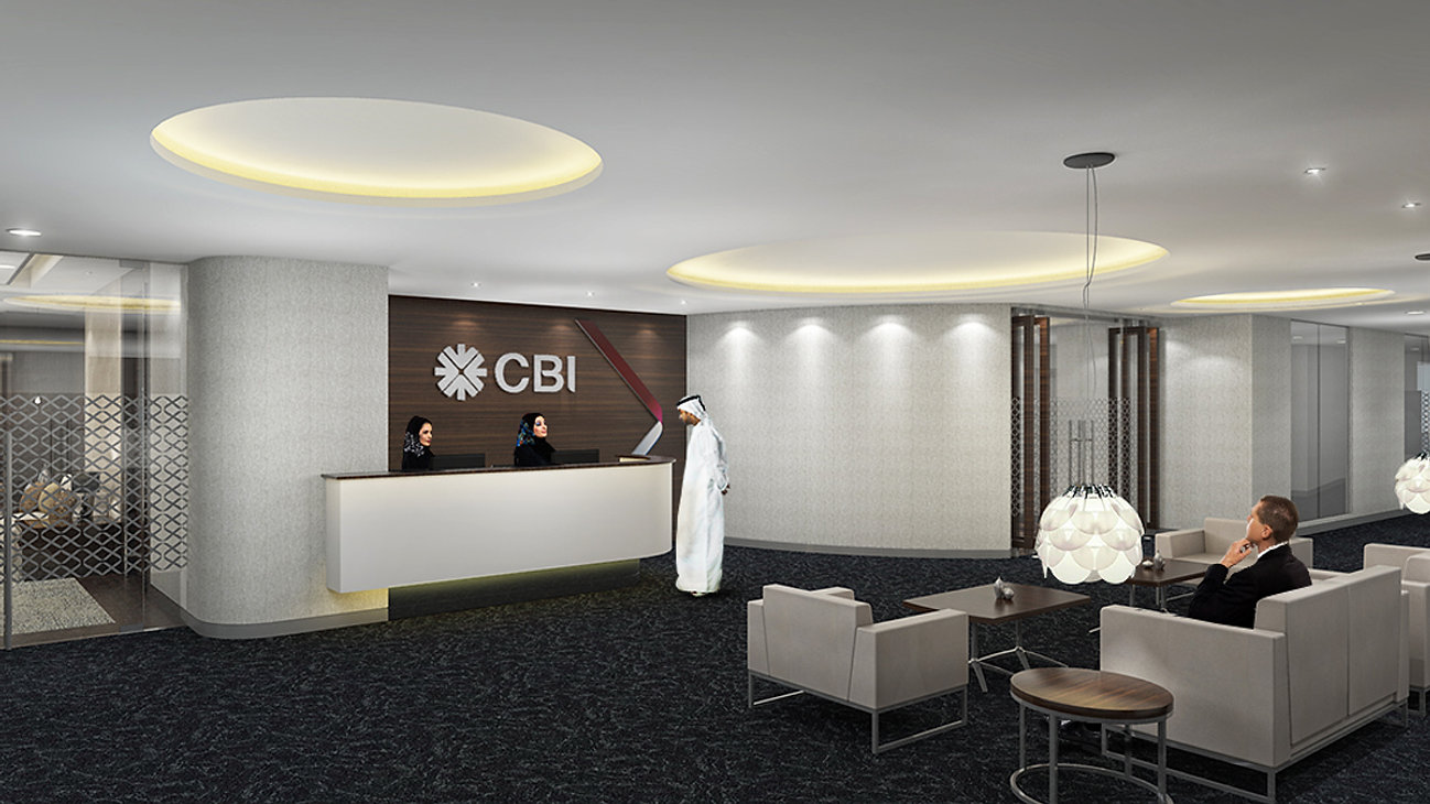 CBI, Level 3 U0026 13, Festival Office Tower, DFC, Dubai, UAE (3,450 Sq.mts.)  Bank Interior Design