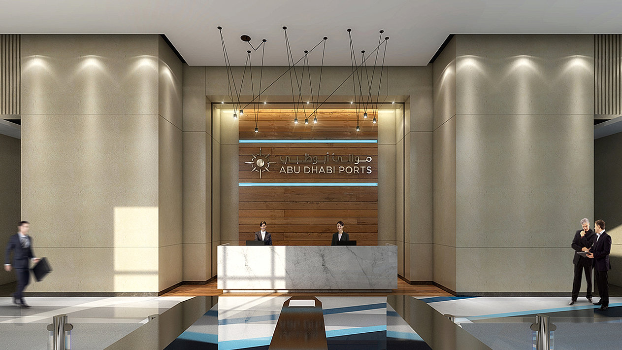 Main Building Reception Lobby Design