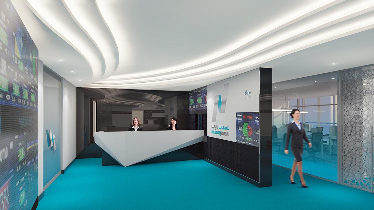 reception modern stock exhange