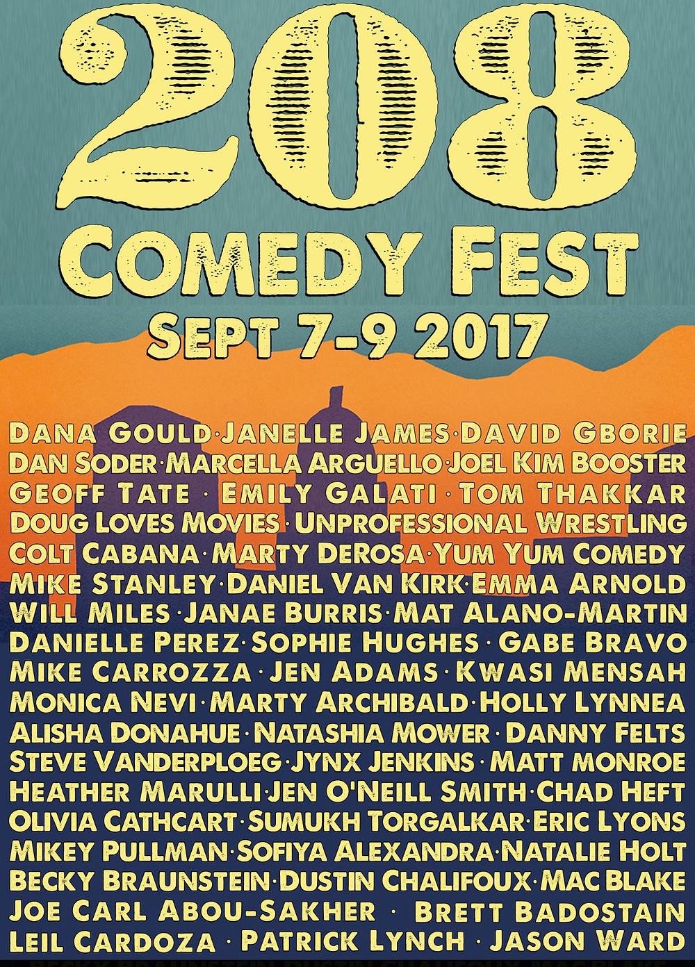 208 Comedy Festival Poster
