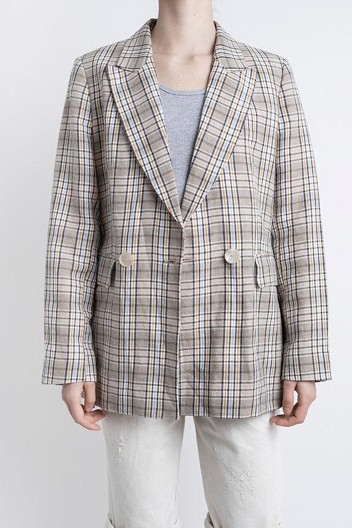 Massimo Dutti Vintage Checked Blazer