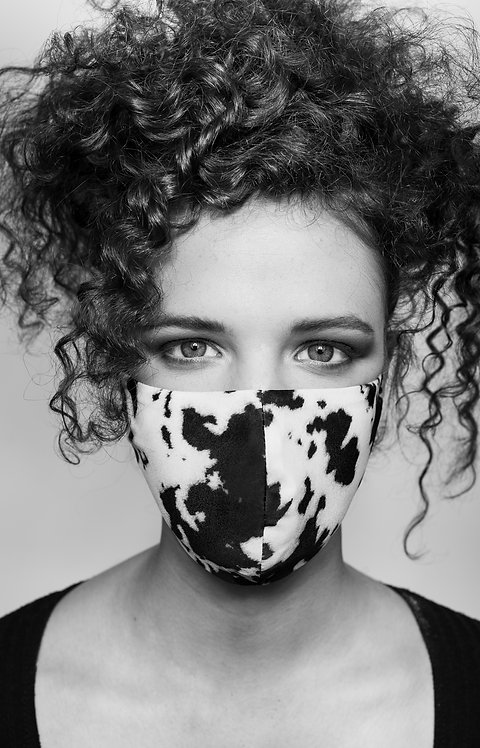 THE  COW PRINT  FACE MASK COVERING