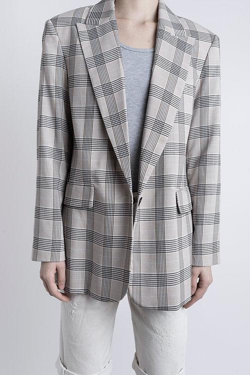 Oversized Checked Tailored Jacket