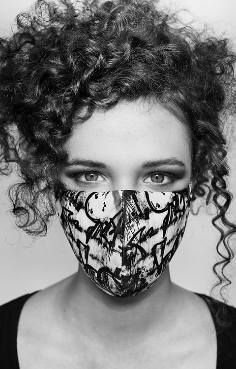 THE G R A F F I T I PRINT FACE MASK COVERING