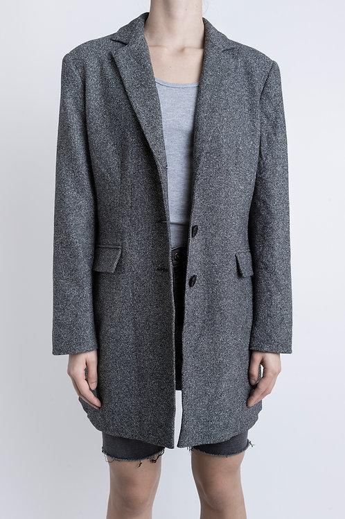 Grey Vintage Herringbone Coat
