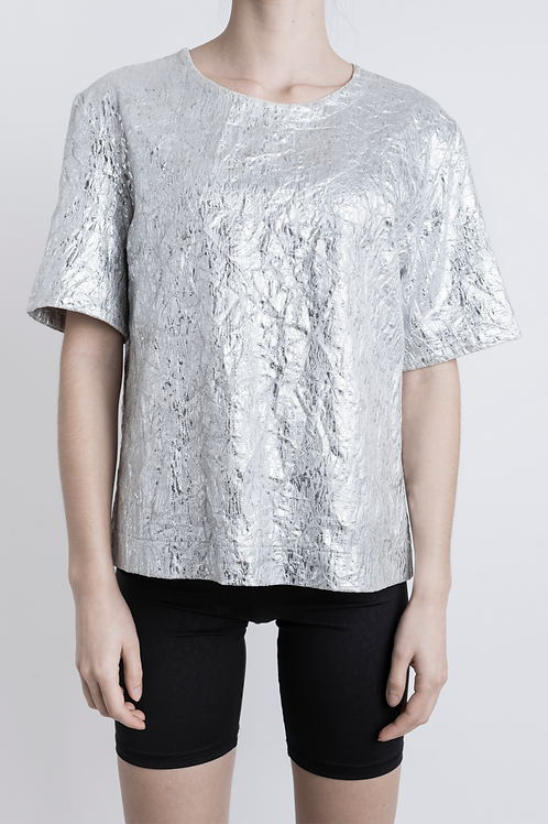 Vintage Silver Shell Top