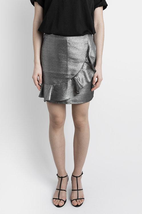 Vintage Metallic Mini Skirt