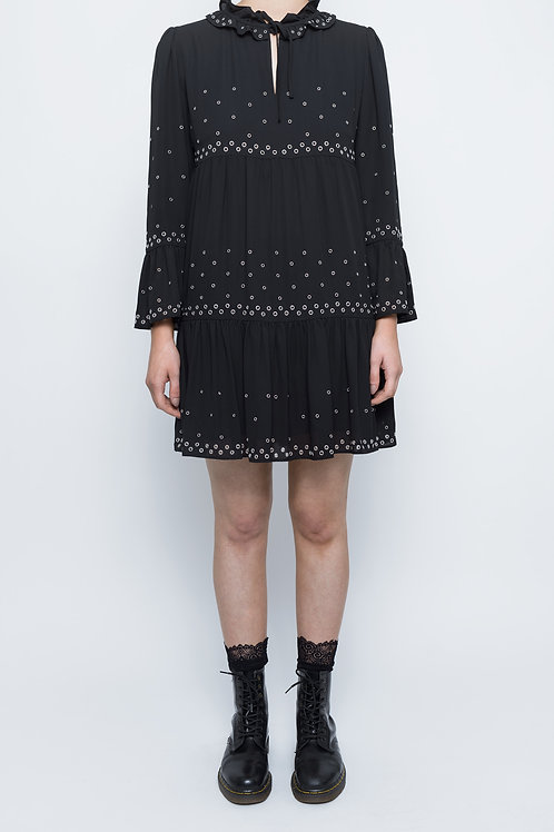 Black Vintage The Kooples Eyelet Dress