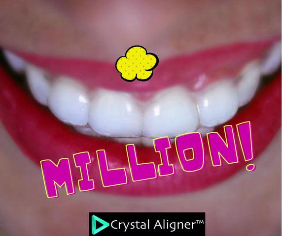 1 מיליון קשתיות שקופות קריסטל אליינר!