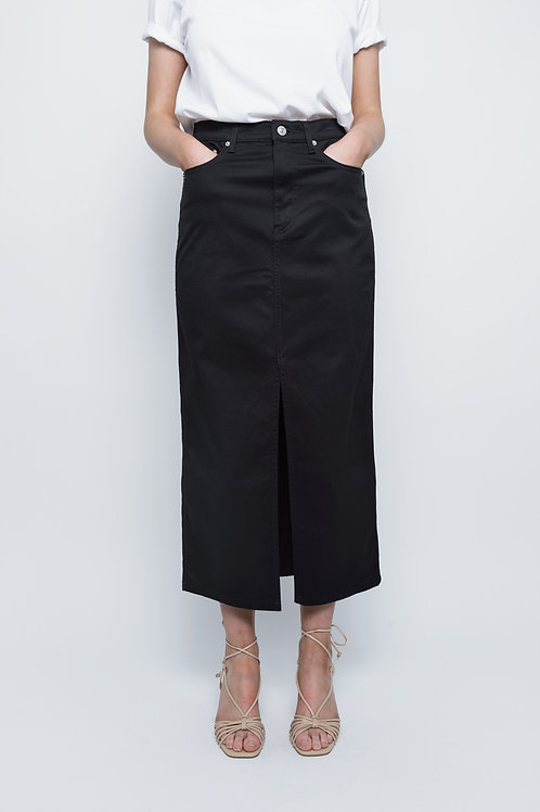 Black Zara Midi Skirt
