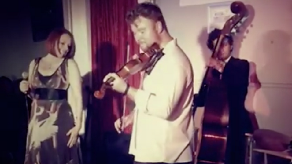 Ben Holder performing with Joanna Eden, Owen Morgan, George Double and Chris Ingham