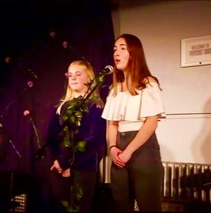 Poppy and Becca singing