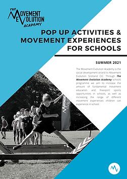 pop up activities & movement experiences