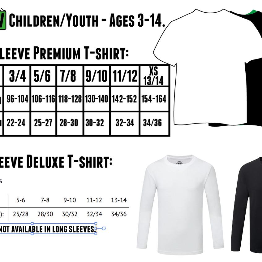 Childrens Tshirt Sizes