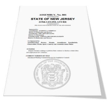 Ability to Bid Work Threatened by NJ Bill