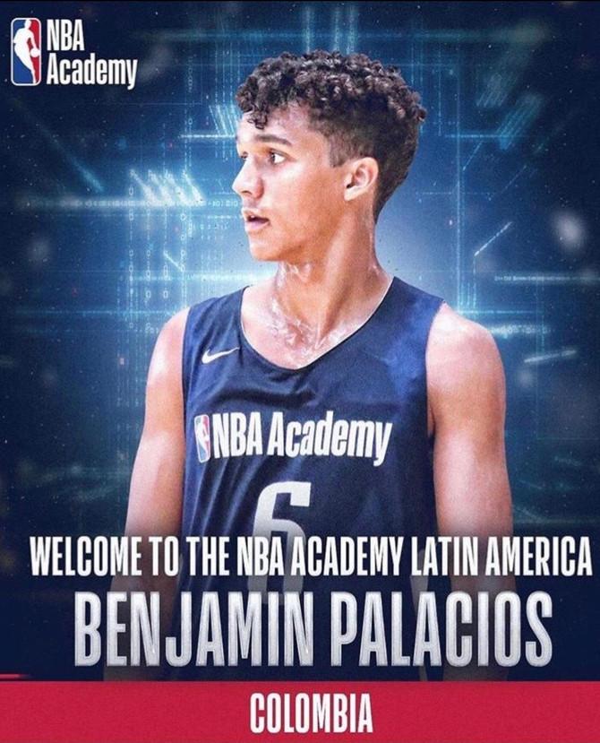 Colombiano Benjamín Palacios llega a la NBA Academy