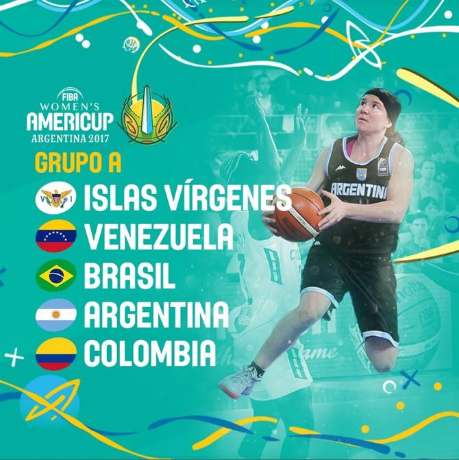 Colombia en el grupo A del FIBA AmeriCup Femenina 2017