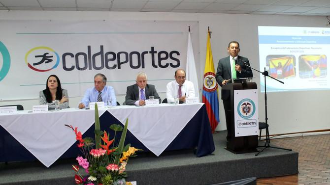 Coldeportes y Federaciones Deportivas trabajan en pro del deporte colombiano