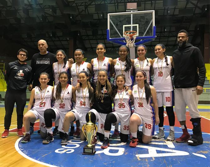 Finalizó la Copa U18 en su rama femenina y Guerreros de Bogotá se coronó campeón