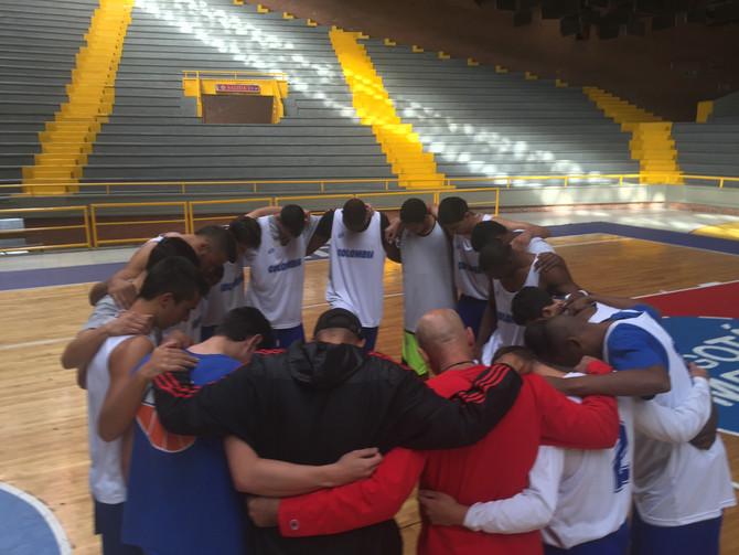 Selección Colombia trabaja previo a su participación en Caracas