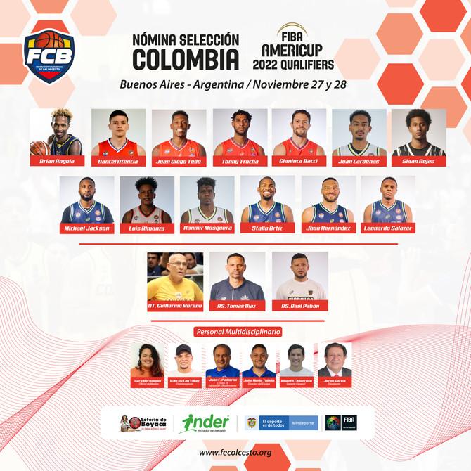 Confirmada la nómina de la Selección Colombia para la tercera ventana de eliminatoria Americup 2022