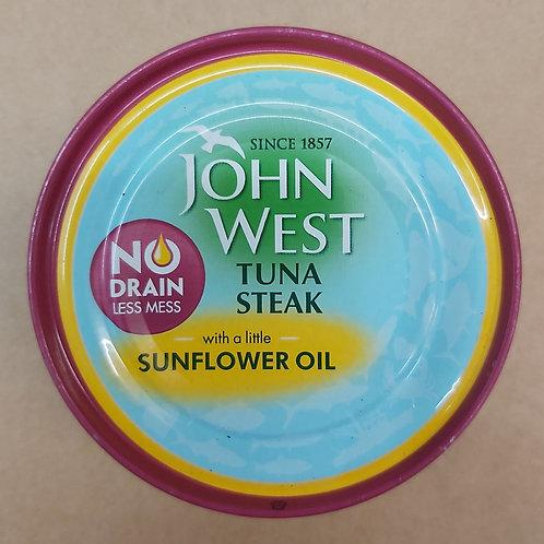 John West Tuna Steak (Sunflower Oil) 110g No Drain