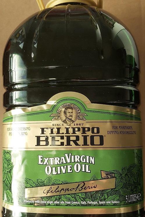 Filippo Berio Extra Vingin Olive Oil 5 Litre