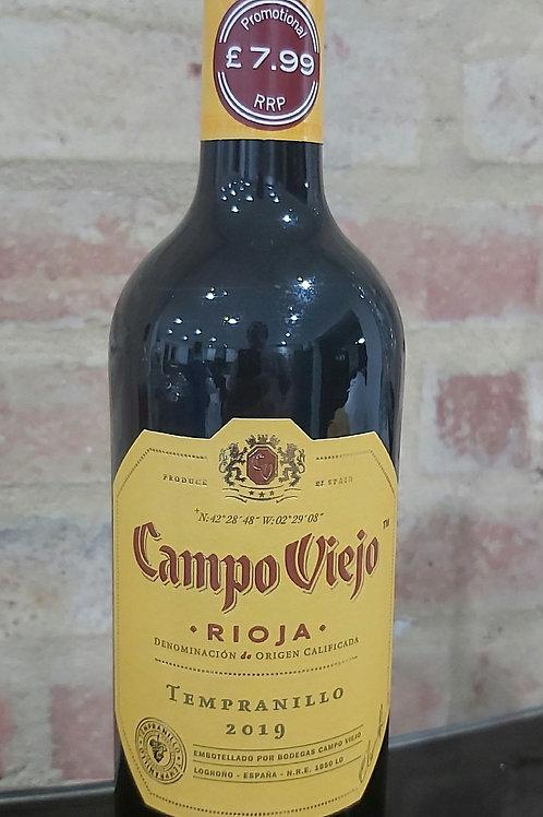 Campo Viejo Rioja Tempranillo 2019 Red Wine 750ml