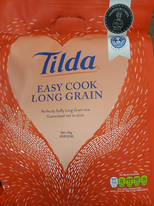 Tilda easy cook long grain rice 5kg