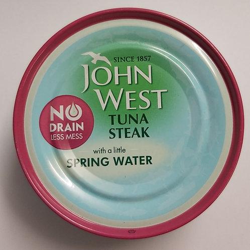 John West Tuna Steak (Spring Water 110g) No Drain