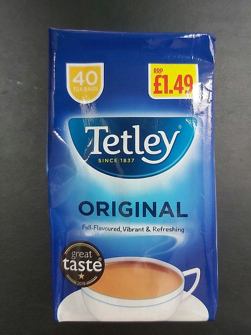 Tetley 40 tea bags 125g e