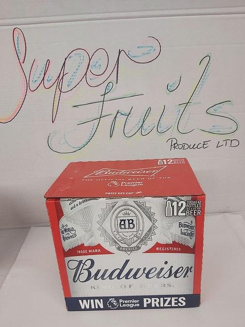 Budweiser Lager Beer 12x300ml
