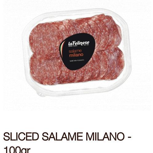 Sliced Salame Milano 100g