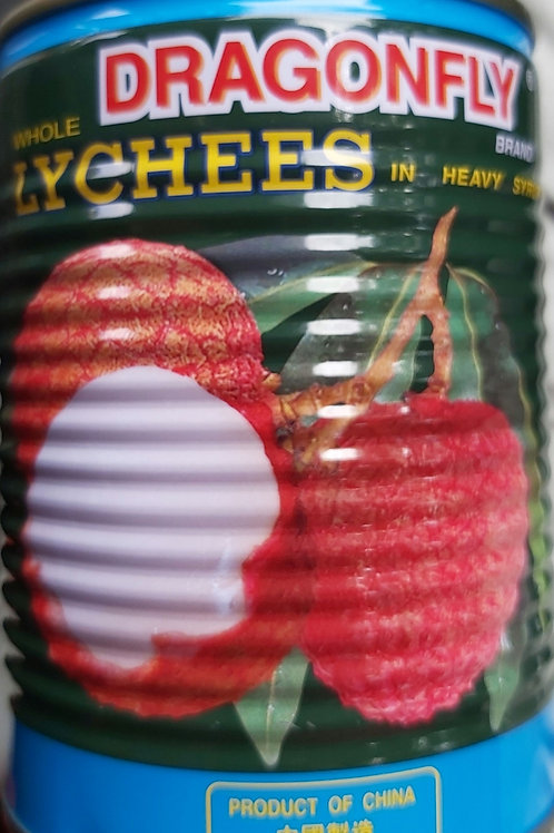 Dragonfly Lychees 565g