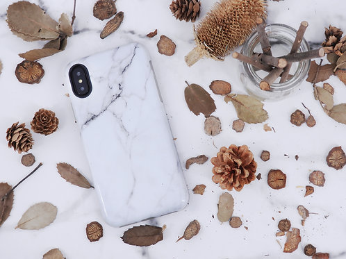 Marble Cellphone Case - White