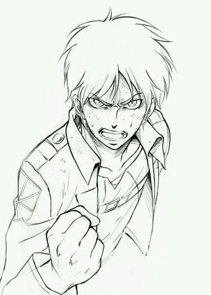 Attack-On-Titan-Eren-Yeager-draw-for-And