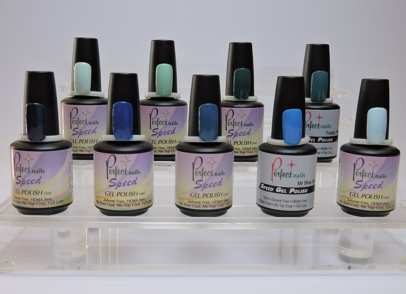 Perfect Nails Speed Gel Polish - Blues, Greens
