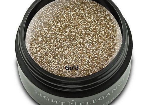 Light Elegance Glitter Gels - Light Gold